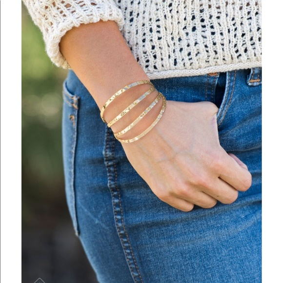 Get Used To It Grit Gold Cuff Bracelet